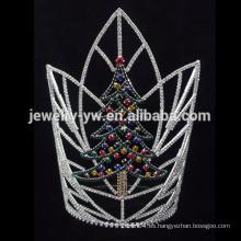Venta al por mayor árbol de Navidad de diseño rhinestone corona de desfile para los hombres