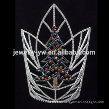 Wholesale Christmas Tree design rhinestone pageant crown for men