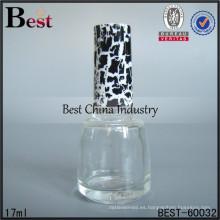 Botellas de pulir para mascotas de 17ml; botellas de aceite de perfume de venta caliente en dubai; botella de vidrio superventas en los Emiratos Árabes Unidos