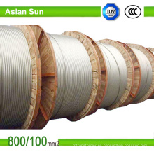 Cebra ACSR Conductor Conductor de aluminio desnudo Acero reforzado ACSR