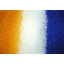 Dessecante de sílica gel azul / branco / laranja