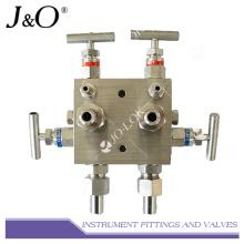 Múltiple de válvula de 5 vías de instrumento de acero inoxidable