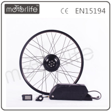 MOTORLIFE 2016 500W e kit de conversion de vélo avec batterie au lithium