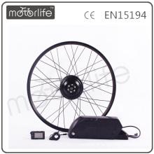 MOTORLIFE / OEM marca 2015 CE ROHS passar 500 w barato bicicleta elétrica kit, bateria 36 v 20.4ah max