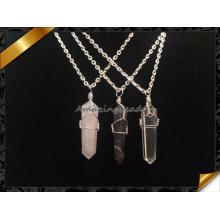Venta caliente Druzy Amethyst collar de cristal de cuarzo punto (fn075)