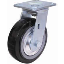 Roulette pivotante PU robuste (noir) (avec couvercle anti-poussière)