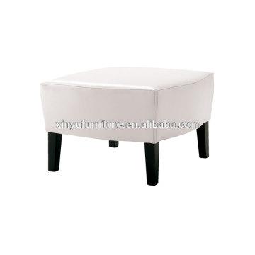 Soild wooden frame white leather ottoman for wedding furniture wholesale XY3364
