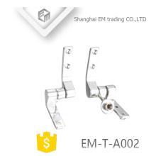 EM-T-A002 Chromed pulido inodoro asiento bisagra sanitario