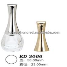 Glanz Silber Glas Nagellack Öl Flasche Caps