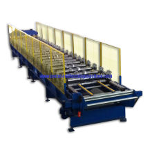 0.35- 0.8mm Trapezoid Panel Wall Roll Forming Machine With Hydraulic Cutting