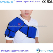 sports specialist shoulder cold pack /cold wrap and double brace strap to ease muscle