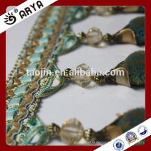 2016 Stock Produkt Großer Verkauf für Haus und Dekor von Kristall und Beflockung Perlen Fransen