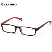 Venta a granel promoción moda delgado gafas de lectura unisex