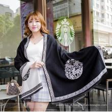2016 confortável mais vendido lã cobertor mulheres senhora lenço da moda