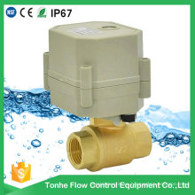 """1/2 """"Inch Dn15 AC230V NSF61 Agua Eléctrica Pequeña Válvula De Bola Motorizada"""