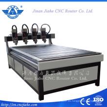 Multihead madera muebles uso talla ranurador del Cnc de alta calidad de 1200 * 2400 m m China ranurador de madera del CNC de la máquina