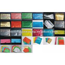 Sentido elegante colorido do arco-íris Ziplock Sacos de empacotamento do tamanho pequeno