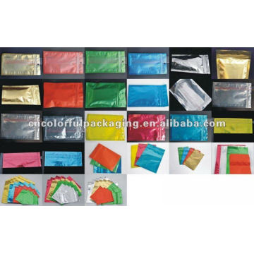 Rainbow Colorful Elegant feel Ziplock Small size packaging bags