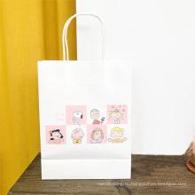 Бумажный пакет для покупок с принтом логотипа