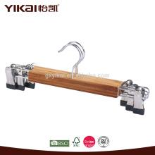 Colgadores de falda de bambú