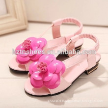 Han edition camellia fashion girls sandals, the new 2015 joker girls sandals small ZhongTong sandals fashion leisure