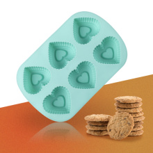 Blue Silicone Heart Shape Cake Mold