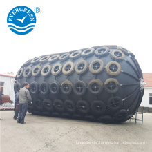 2.0*3.5 m marine pneumatic rubber fender with aircraft tyre