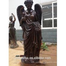 2018 bronze jardin Femme sculpture grandeur nature métal bronze ange figurines