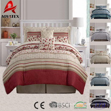 Sistema de cama de microfibra de lujo impreso directo de encargo directo de la fábrica de la venta 10pcs