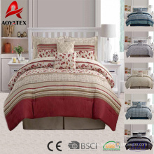 10pcs hot sale factory direct custom printed luxury microfiber bedding set
