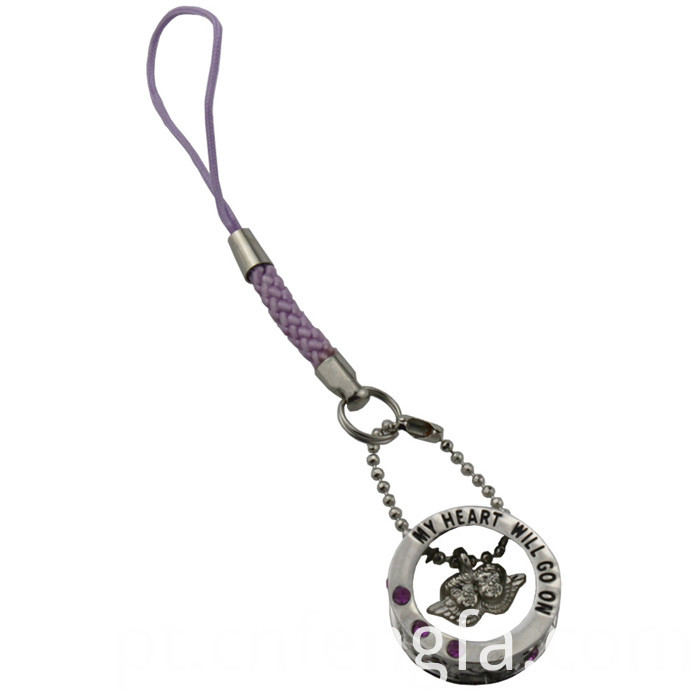 Zinc alloy mobile phone charm