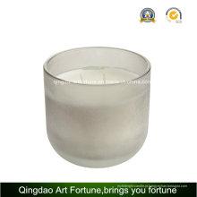 Vela de copo de vidro com cera cheia de wick 3 na China