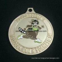 Medalla de medalla de oro deportes reunión de diseño personalizado