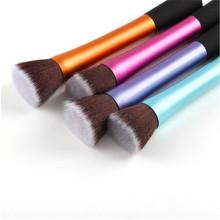 5PCS Metal Tube Cheveux synthétiques Nouveau style Flat Kabuki Brush