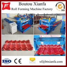 Factory making for European Type Glazed Tile Roll Forming Machine for Sale Galvanized Iron Roofing Sheets Tile Making Machine supply to South Africa Manufacturers