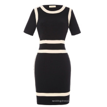 Kate Kasin Women's Short Sleeve Optical Illusion Bodycon Pencil Dress KK000227-1