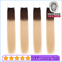 Top Quality 100% Brazilian Straight Omber Color 18inch Virgin Human Hair Knot Thread Hair Extension Remy Hair