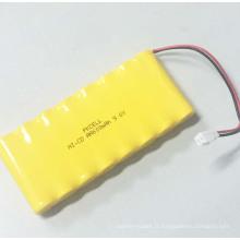 Pack de batterie rechargeable Ni-CD AA 600mah 9.6V