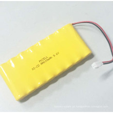 PKCELL NI-CD AA bateria recarregável de 600mAh 9.6V com fita