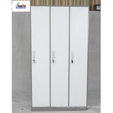 Students use metal locker 3 doors cabinet storage