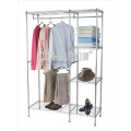 DIY Bedroom Furniture Steel Wardrobe Closet Rack with T/C Canvas Cover