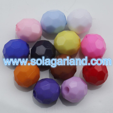 4/6/8/10 MM acrilico Rondelle sfaccettato Pony Beads Bubblegum sciolto grosso perline Charms