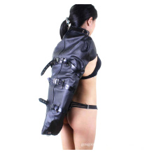 Beliebte Frauen Arm Handschuh Back Bondage Sm Leder Single Arm Binder Restraints Armbinder