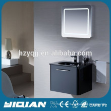 PVC Cabinet Wall Mounted LED Light Modern Bathroom Mirror Cabinet