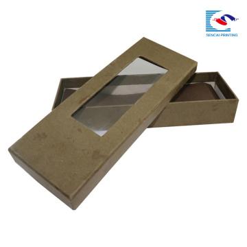 caja de empaquetado al por mayor del papel del regalo de la corbata del nuevo diseño con la ventana del pvc