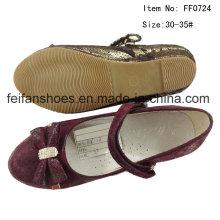 Chaussures pour enfants Chaussures de danse fille Chaussures princesse Chaussures plates (FF0724-27)