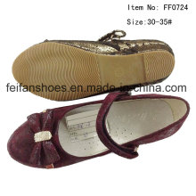 Kids Shoes Girl Dance Shoes Princess Shoes Flat Shoes (FF0724-27)