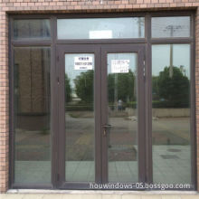 Aluminum residential style hinged door double panel