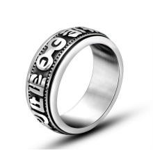 Религиозные Тексты Мода Из Нержавеющей Ювелирные Изделия Лаки Кольцо Старинные Серебряные