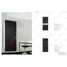Porta de cor preta, porta de papelão